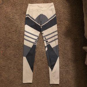 White & grey leggings